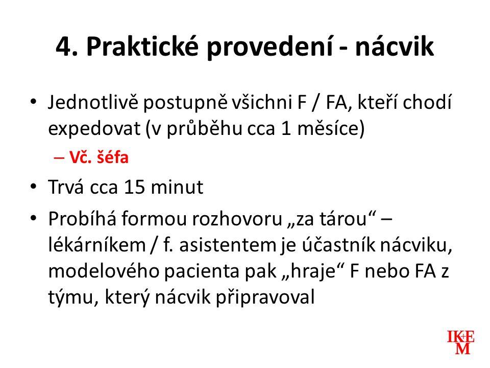 4. Praktické provedení - nácvik