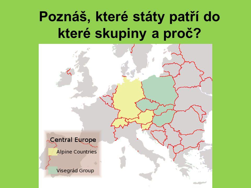 Poznáš, které státy patří do které skupiny a proč