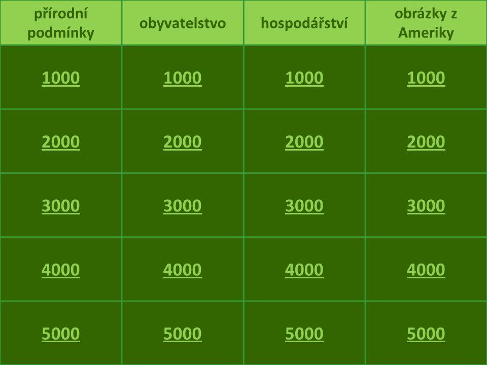 1000 2000 3000 4000 5000 přírodní podmínky obyvatelstvo hospodářství
