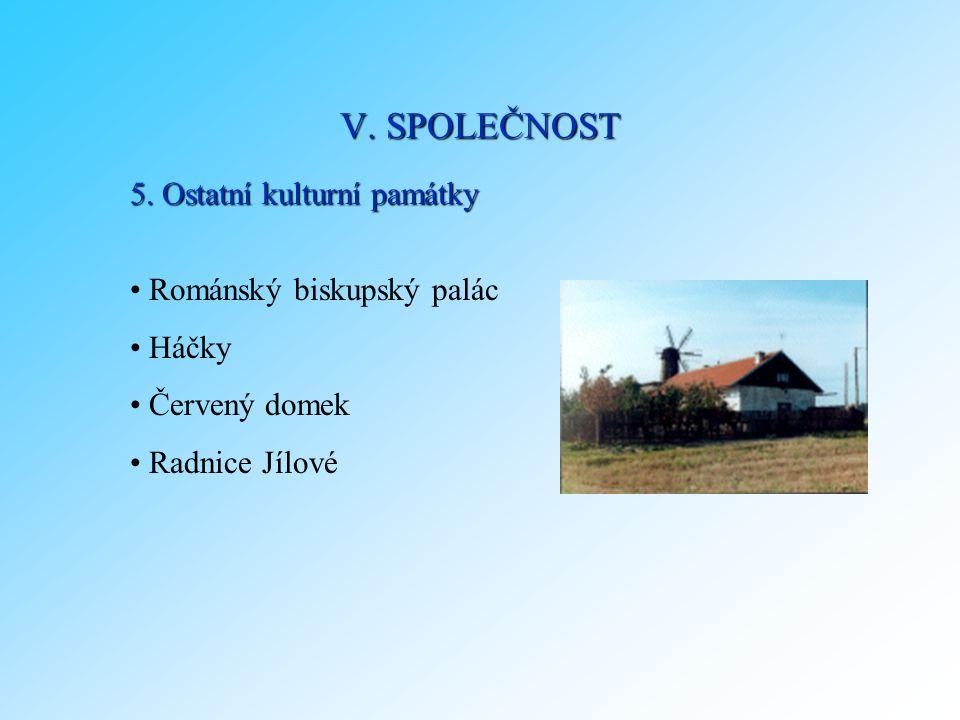 V. SPOLEČNOST 5. Ostatní kulturní památky Románský biskupský palác