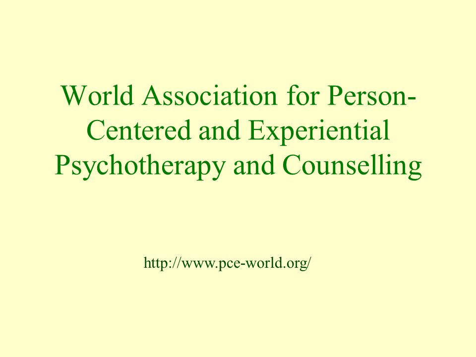 World Association for Person-Centered and Experiential Psychotherapy and Counselling