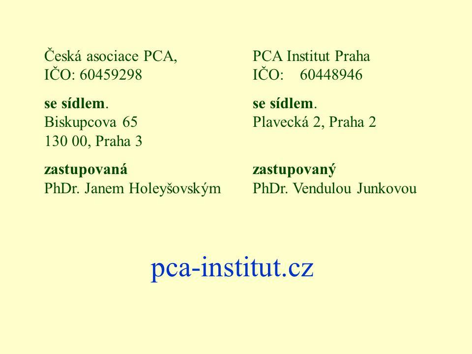 pca-institut.cz Česká asociace PCA, IČO: 60459298