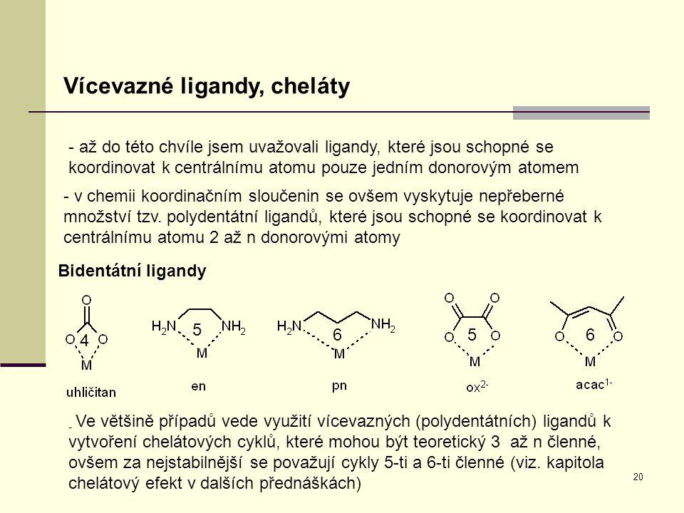 Vícevazné ligandy, cheláty