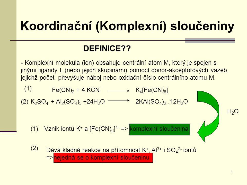 Koordinační (Komplexní) sloučeniny