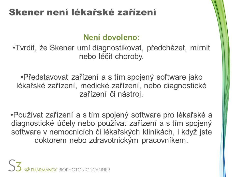 Skener není lékařské zařízení