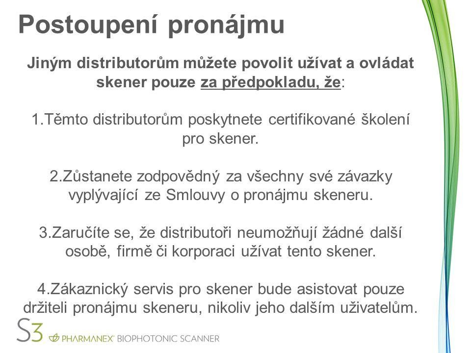 Těmto distributorům poskytnete certifikované školení pro skener.