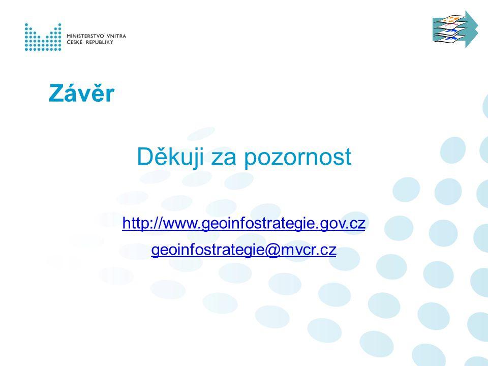 Závěr Děkuji za pozornost http://www.geoinfostrategie.gov.cz