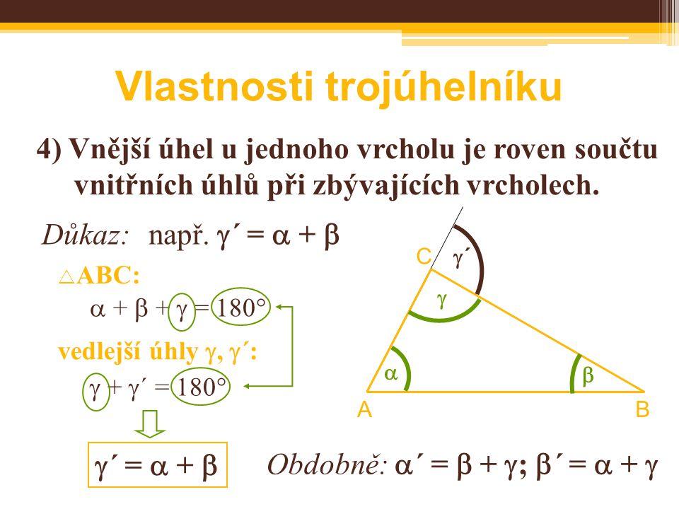 Vlastnosti trojúhelníku