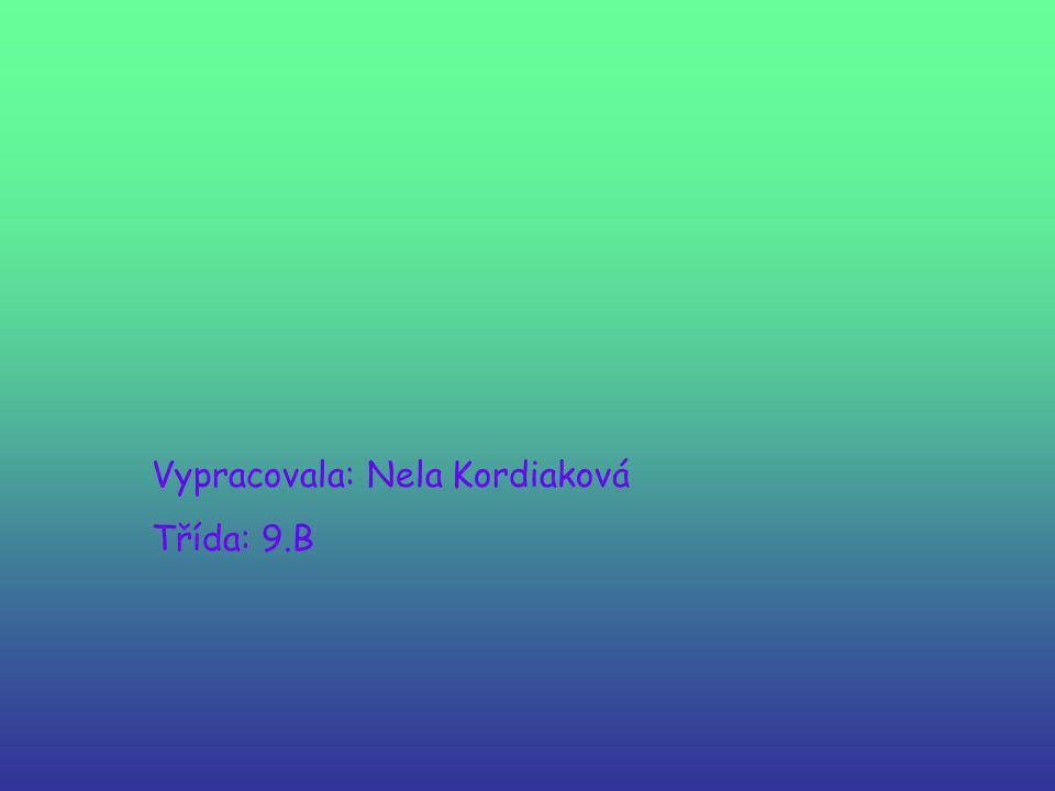 Vypracovala: Nela Kordiaková