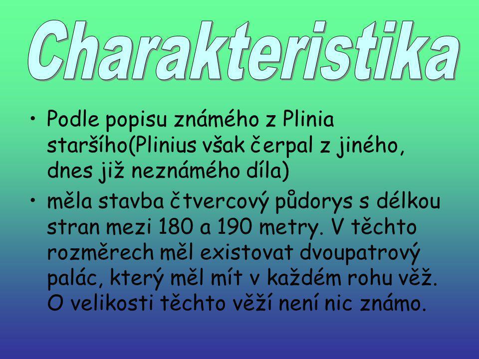 Charakteristika Podle popisu známého z Plinia staršího(Plinius však čerpal z jiného, dnes již neznámého díla)