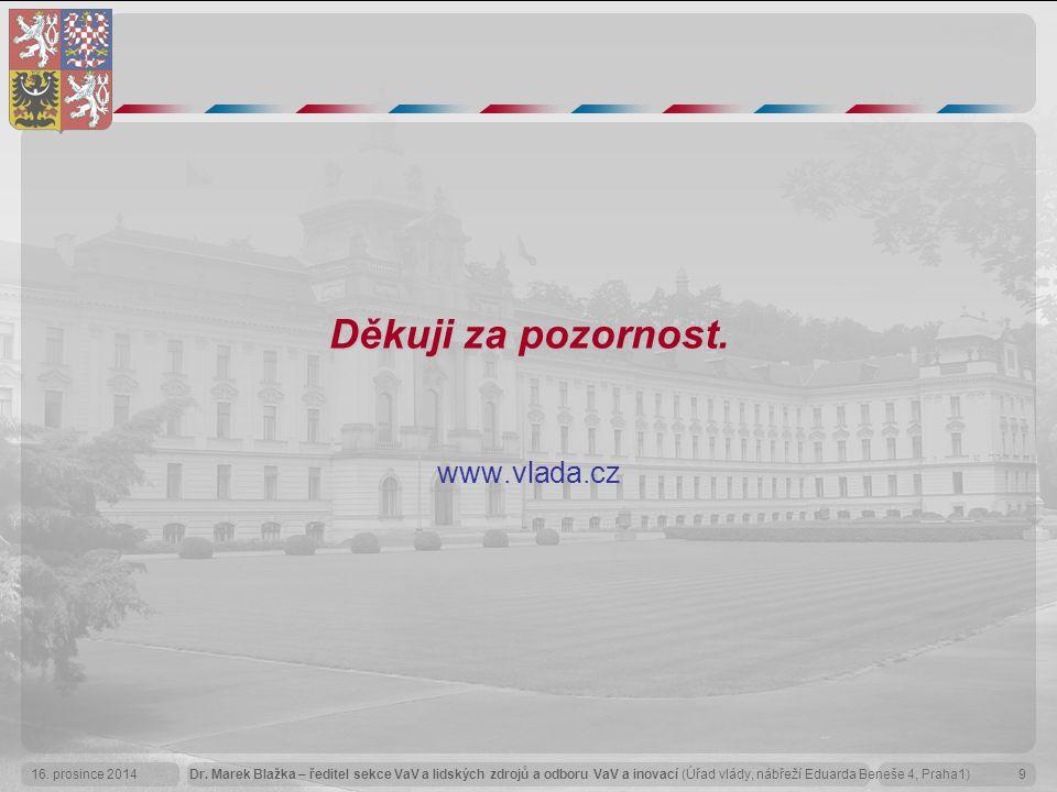 Děkuji za pozornost. www.vlada.cz
