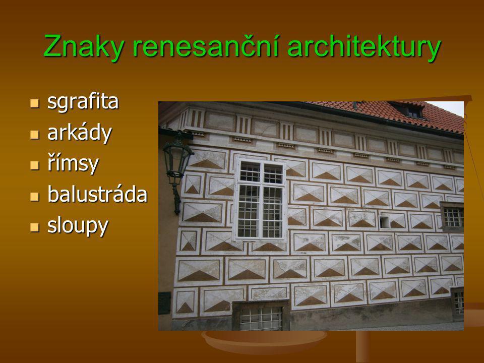Znaky renesanční architektury