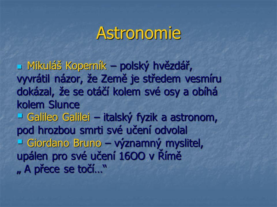 Astronomie Mikuláš Koperník – polský hvězdář,