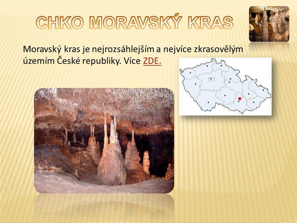 CHKO MORAVSKÝ KRAS Moravský kras je nejrozsáhlejším a nejvíce zkrasovělým územím České republiky.