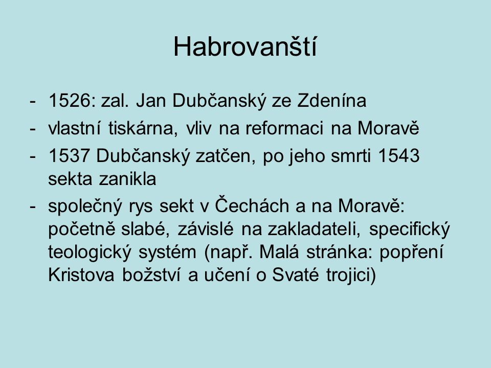 Habrovanští 1526: zal. Jan Dubčanský ze Zdenína