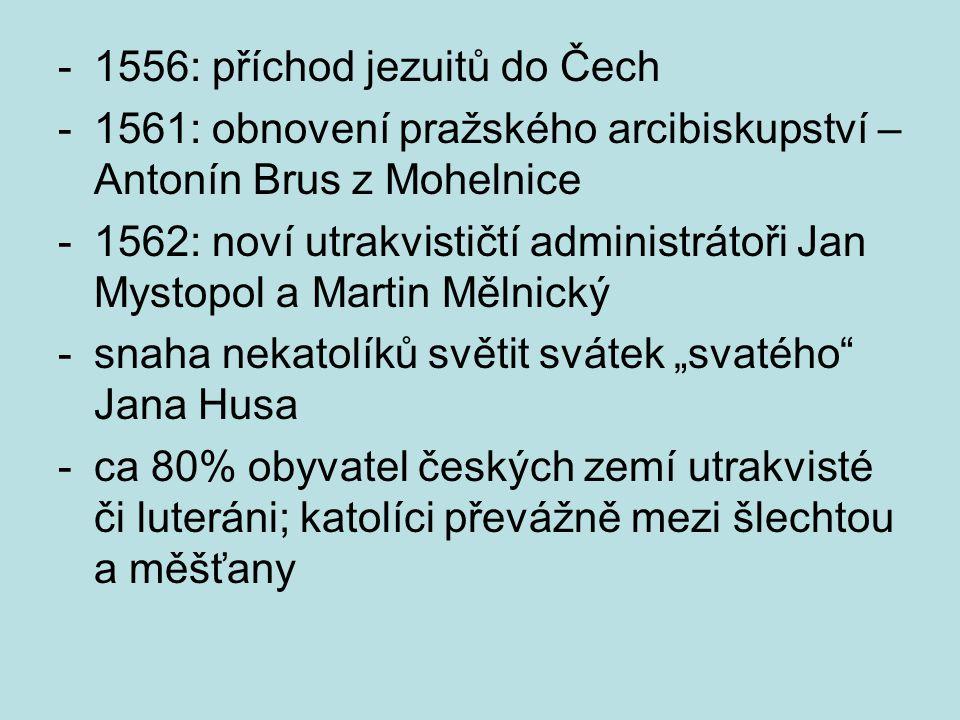 1556: příchod jezuitů do Čech