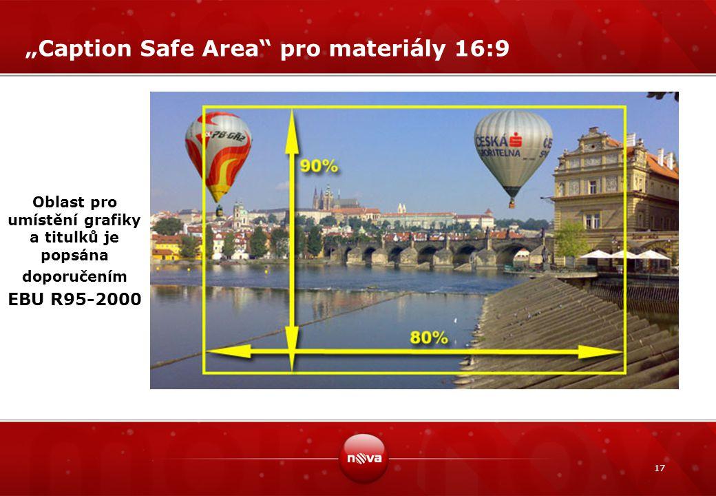 """""""Caption Safe Area pro materiály 16:9"""