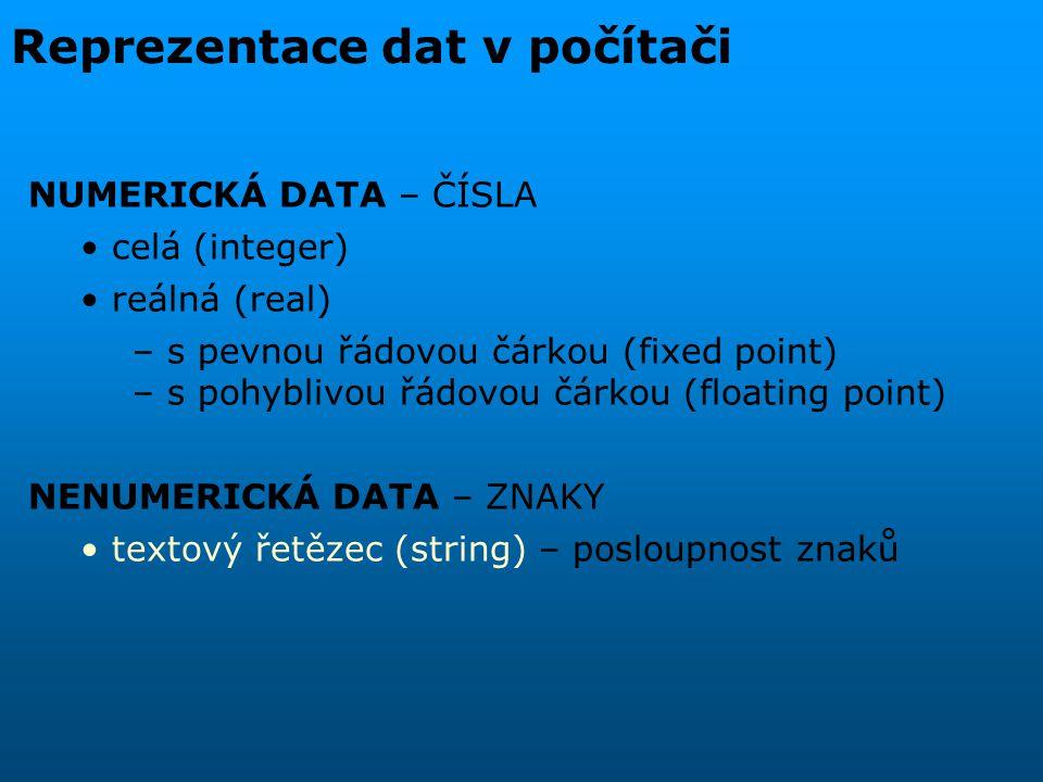 Reprezentace dat v počítači