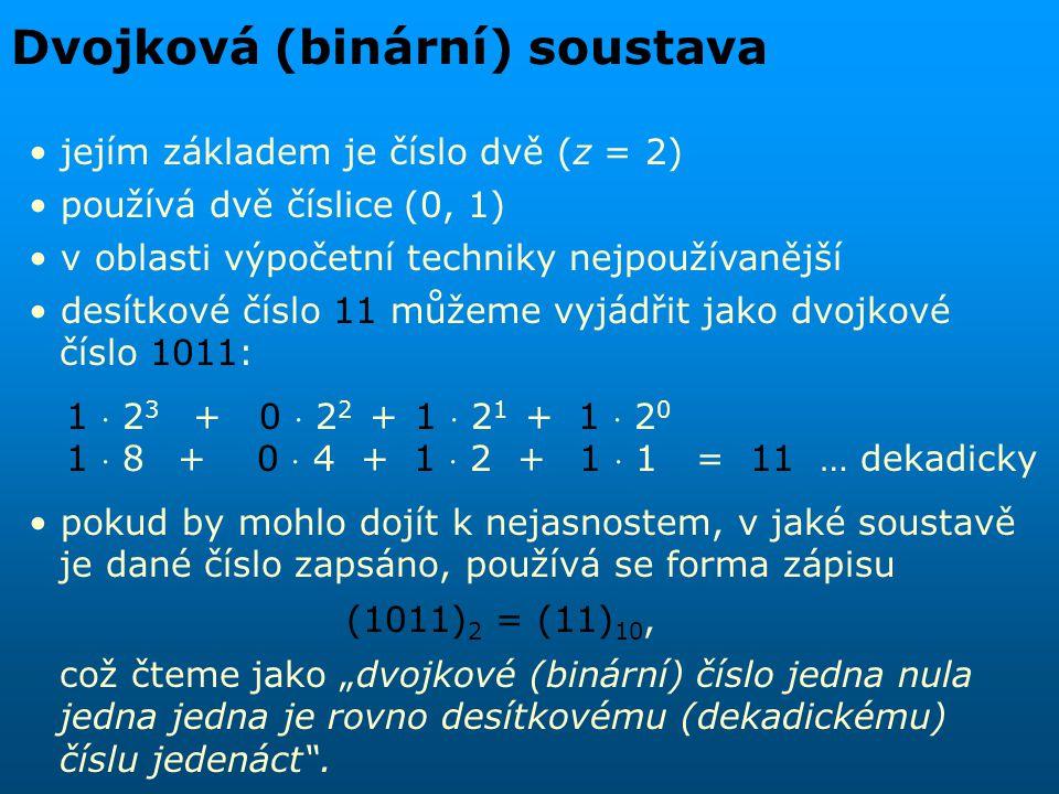 Dvojková (binární) soustava