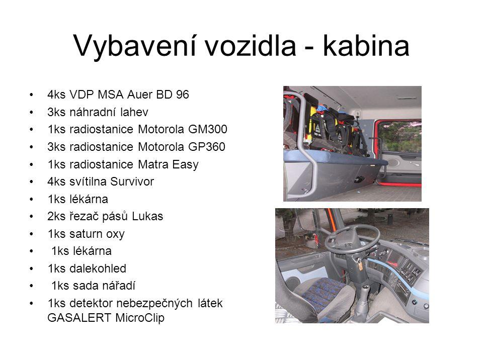 Vybavení vozidla - kabina