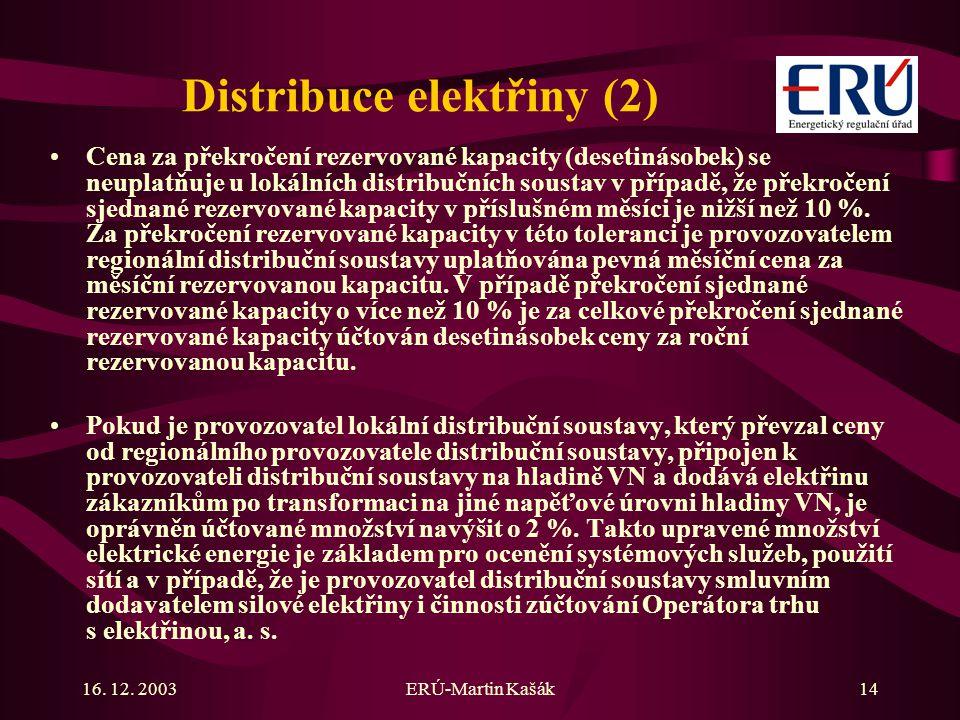 Distribuce elektřiny (2)
