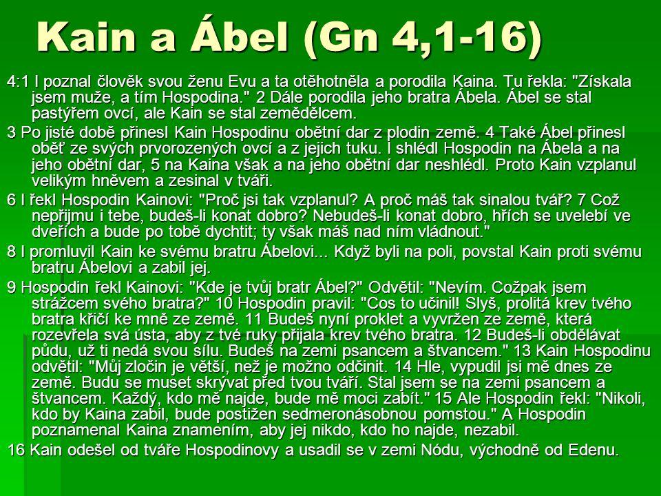 Kain a Ábel (Gn 4,1-16)