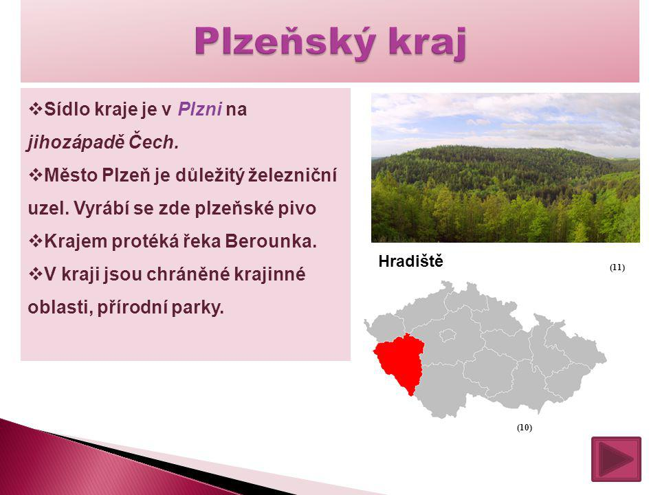 Plzeňský kraj Sídlo kraje je v Plzni na jihozápadě Čech.