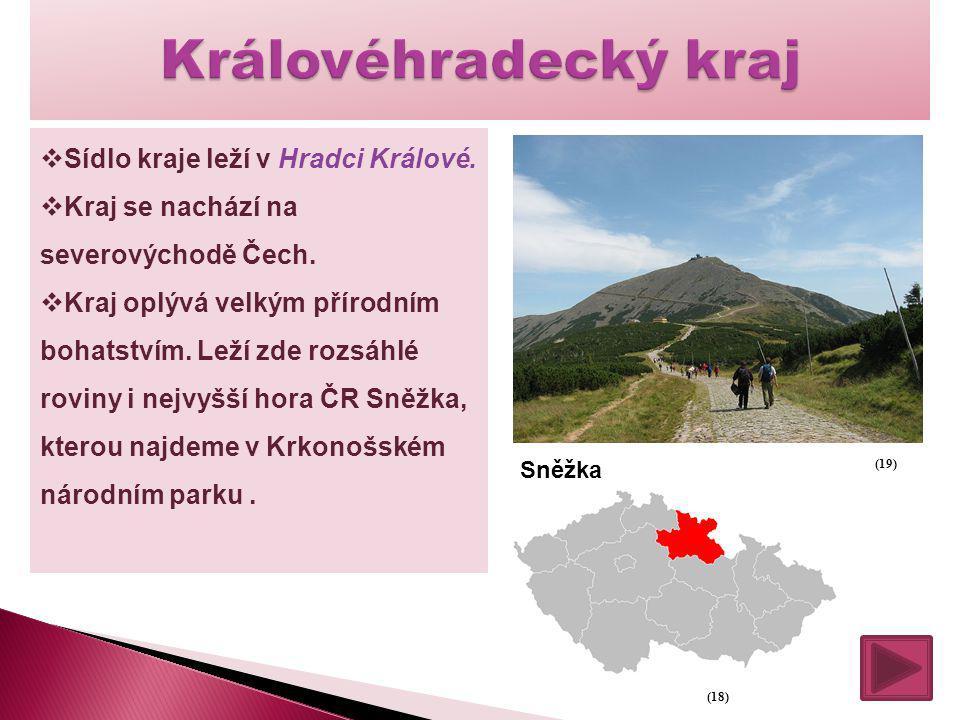 Královéhradecký kraj Sídlo kraje leží v Hradci Králové.