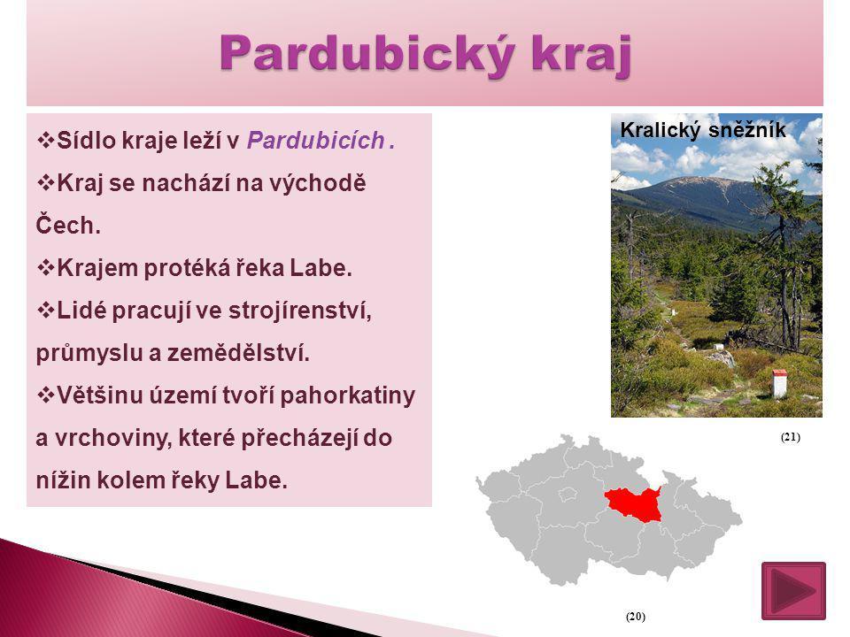 Pardubický kraj Sídlo kraje leží v Pardubicích .