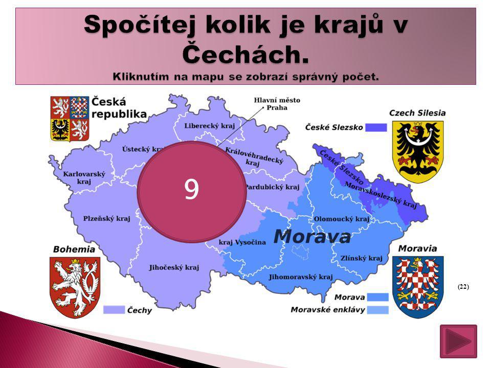 Spočítej kolik je krajů v Čechách