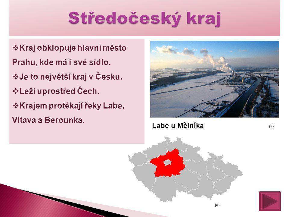 Středočeský kraj Kraj obklopuje hlavní město Prahu, kde má i své sídlo. Je to největší kraj v Česku.