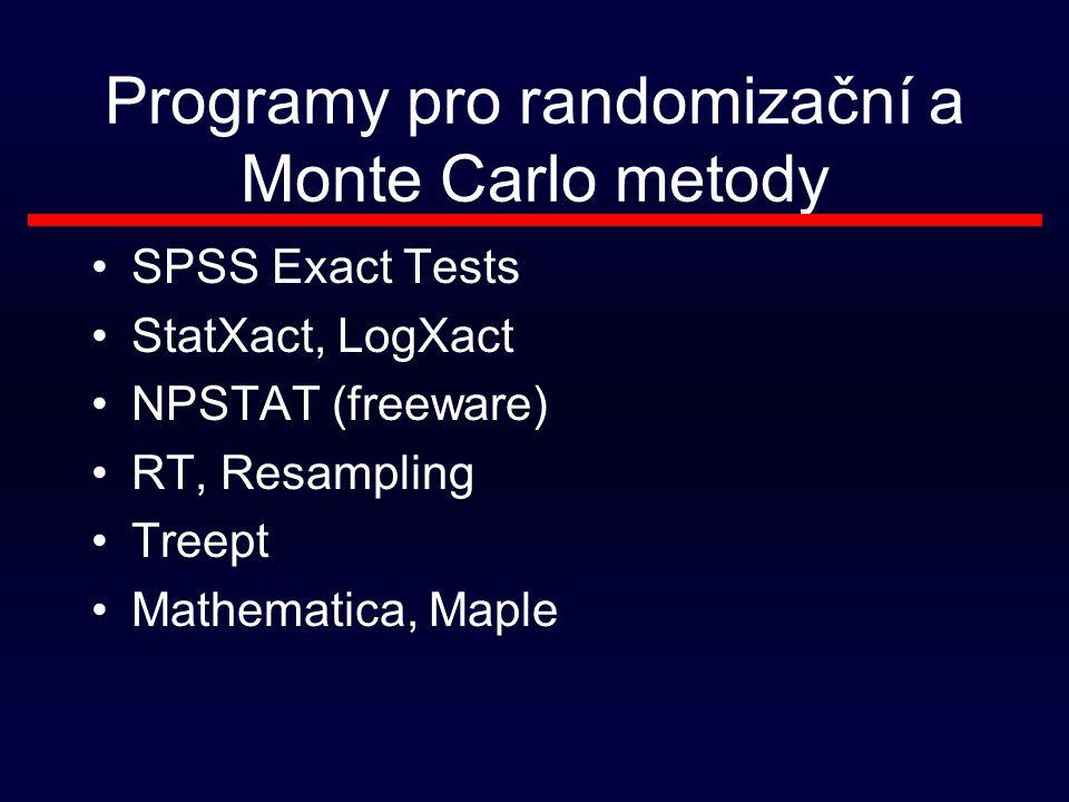 Programy pro randomizační a Monte Carlo metody