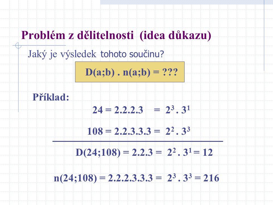 Problém z dělitelnosti (idea důkazu)