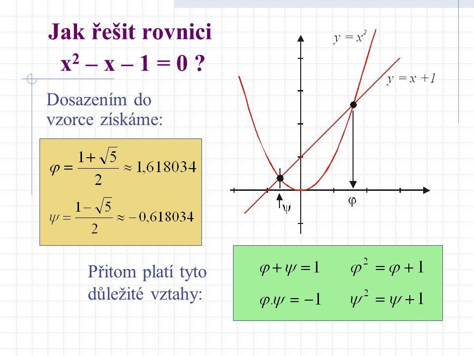 Jak řešit rovnici x2 – x – 1 = 0