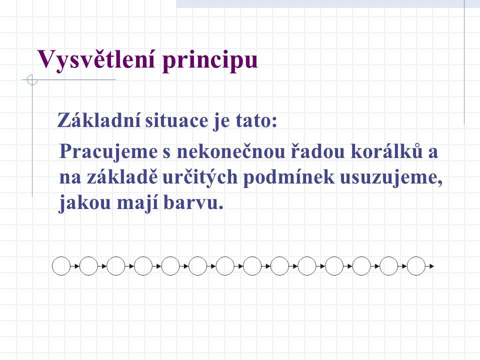 Vysvětlení principu Základní situace je tato: