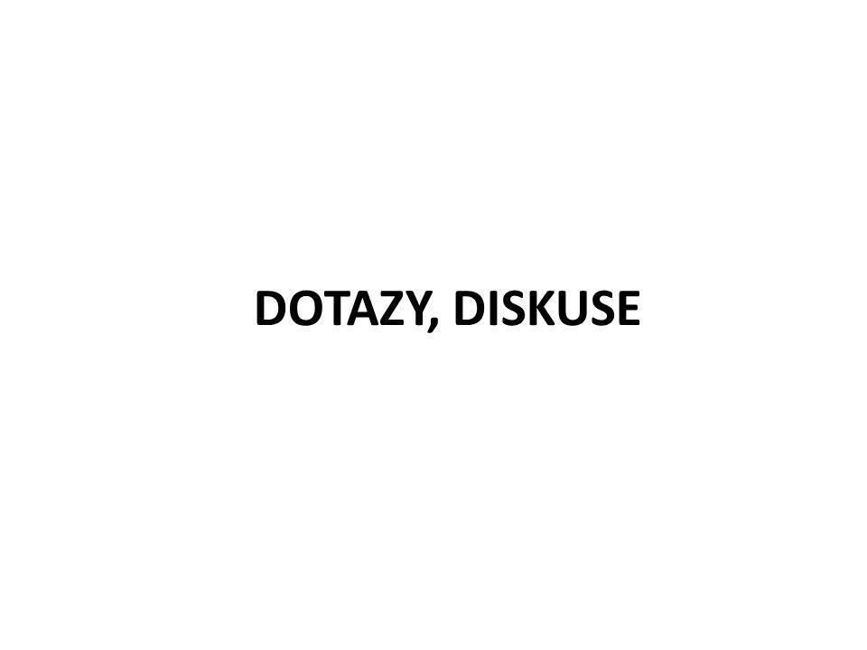 DOTAZY, DISKUSE