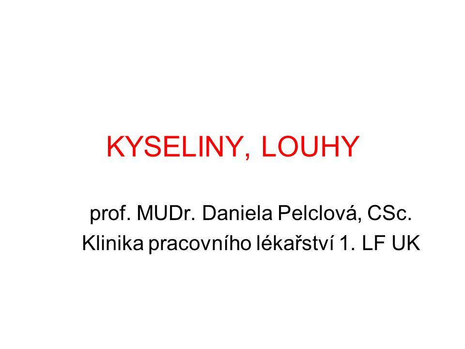 KYSELINY, LOUHY prof. MUDr. Daniela Pelclová, CSc.