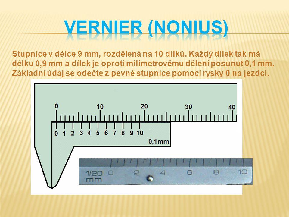 Vernier (nonius)