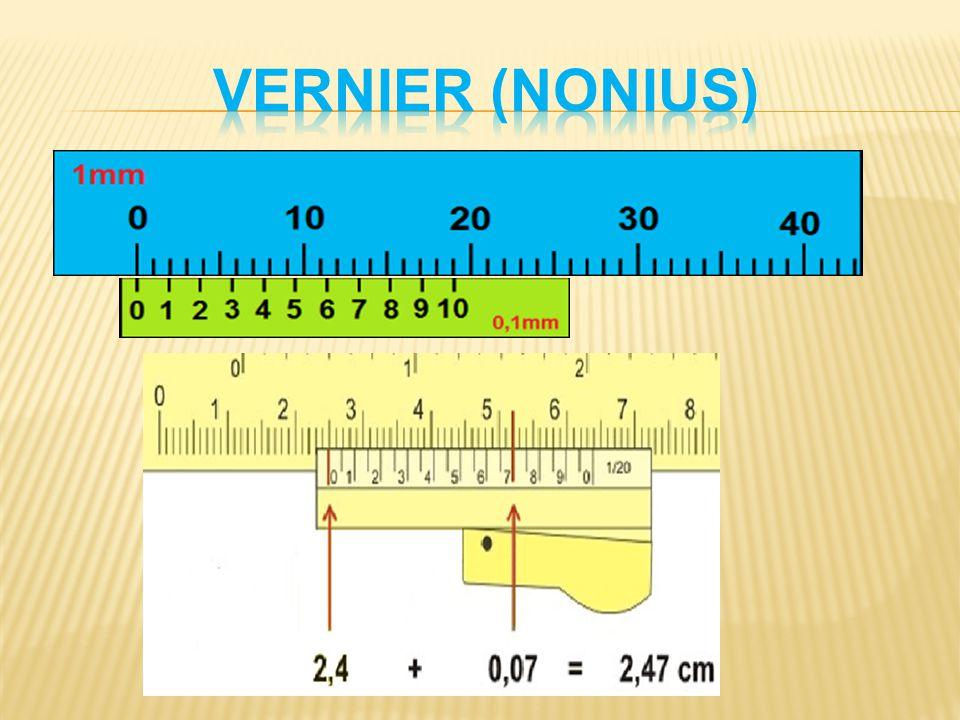 Vernier (nonius) Obr. 5 - vlastní obrázek