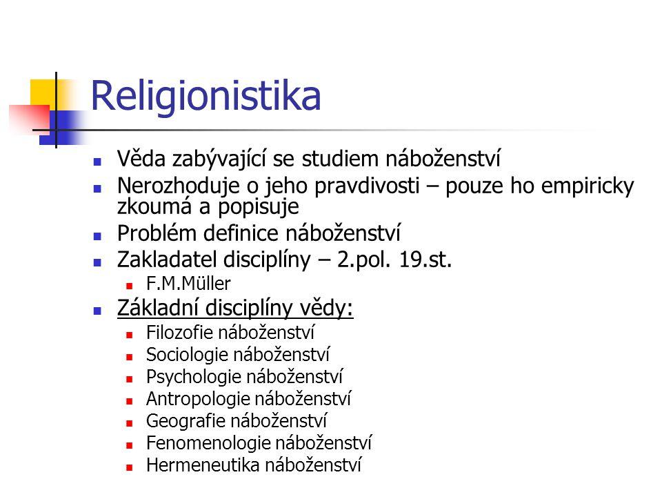 Religionistika Věda zabývající se studiem náboženství