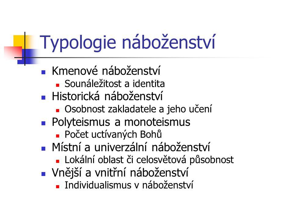 Typologie náboženství