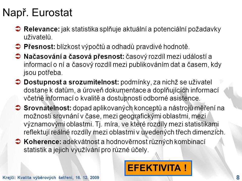 Např. Eurostat EFEKTIVITA !