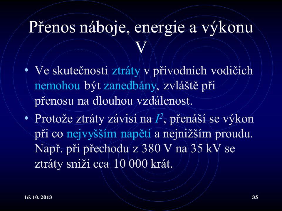 Přenos náboje, energie a výkonu V