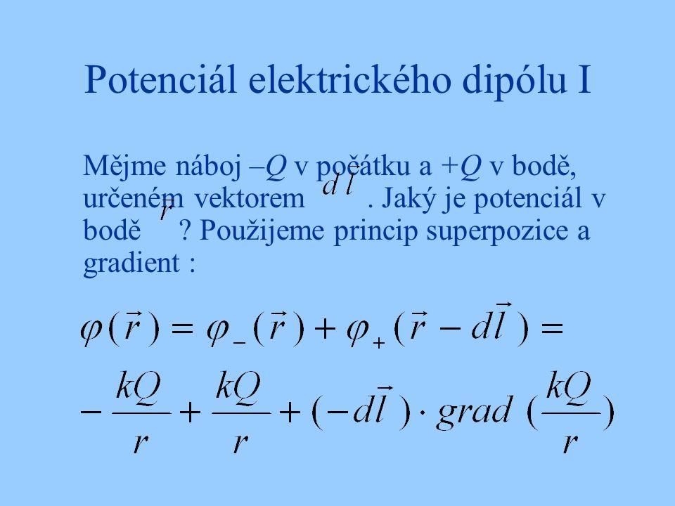 Potenciál elektrického dipólu I