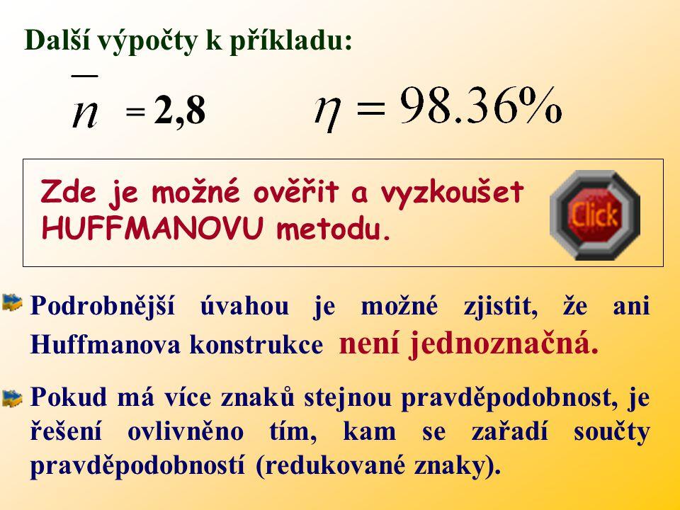 = 2,8 Další výpočty k příkladu: