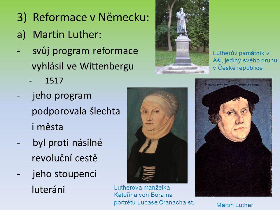 Reformace v Německu: Martin Luther: svůj program reformace