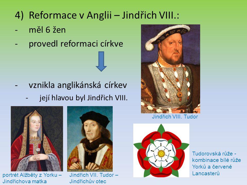 Reformace v Anglii – Jindřich VIII.: