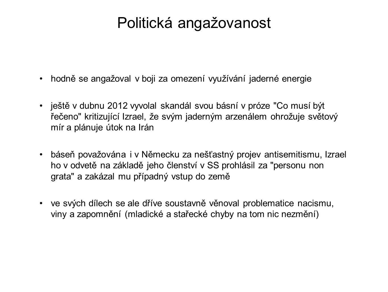 Politická angažovanost