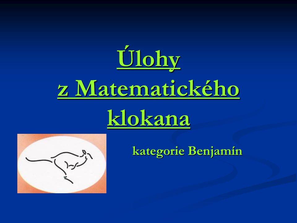 Úlohy z Matematického klokana