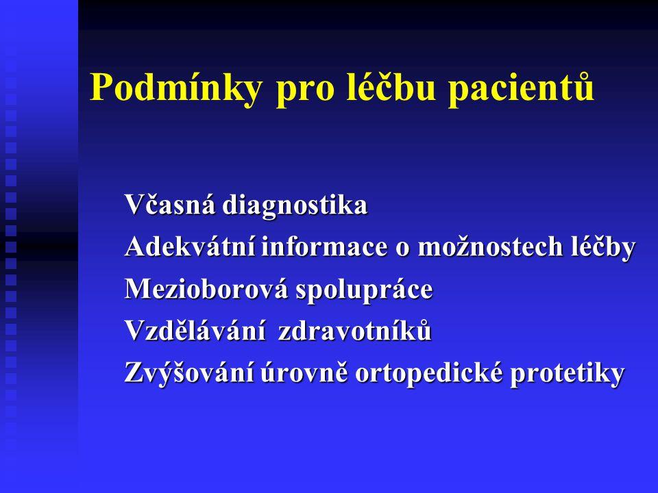 Podmínky pro léčbu pacientů